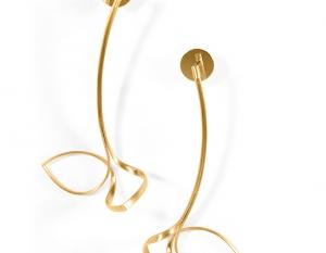 Ear stud Schwebende Linien (Nr. 101)